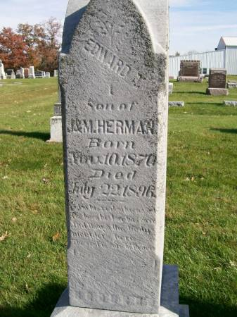 HERMAN, EDWARD T. - Des Moines County, Iowa   EDWARD T. HERMAN