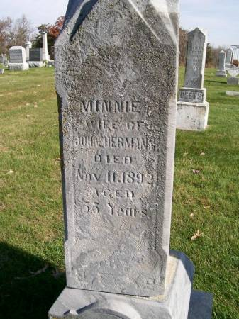 HERMAN, MINNIE - Des Moines County, Iowa   MINNIE HERMAN