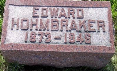 HOHMBRAKER, EDWARD - Des Moines County, Iowa   EDWARD HOHMBRAKER