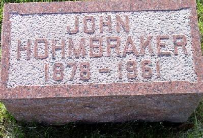 HOHMBRAKER, JOHN - Des Moines County, Iowa | JOHN HOHMBRAKER