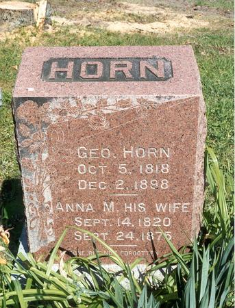 HORN, GEORGE - Des Moines County, Iowa | GEORGE HORN