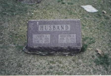 HUSBAND, JAMES A. AND AUGUSTA A. - Des Moines County, Iowa | JAMES A. AND AUGUSTA A. HUSBAND