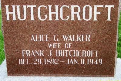 HUTCHCROFT, ALICE G. - Des Moines County, Iowa | ALICE G. HUTCHCROFT