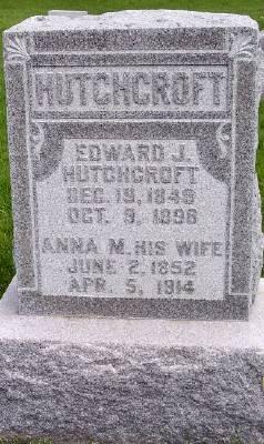 HUTCHCROFT, ANNA M. - Des Moines County, Iowa | ANNA M. HUTCHCROFT