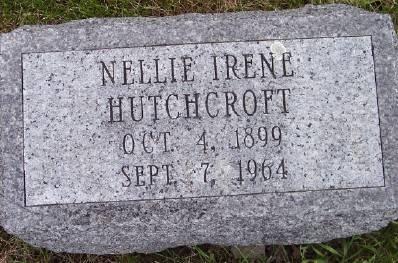 HUTCHCROFT, NELLIE IRENE - Des Moines County, Iowa | NELLIE IRENE HUTCHCROFT
