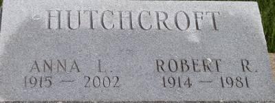 HUTCHCROFT, ROBERT R. - Des Moines County, Iowa   ROBERT R. HUTCHCROFT