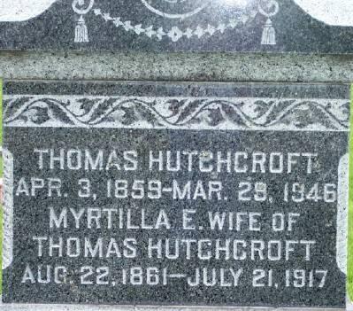 HUTCHCROFT, MYRTILLA E. - Des Moines County, Iowa | MYRTILLA E. HUTCHCROFT