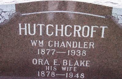BLAKE HUTCHCROFT, ORA E. - Des Moines County, Iowa   ORA E. BLAKE HUTCHCROFT