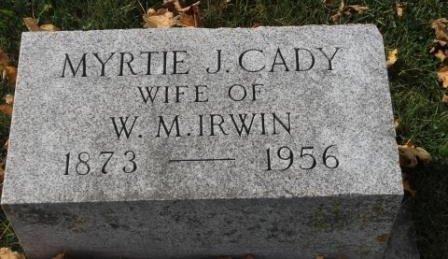 IRWIN, MYRTIE J. - Des Moines County, Iowa | MYRTIE J. IRWIN