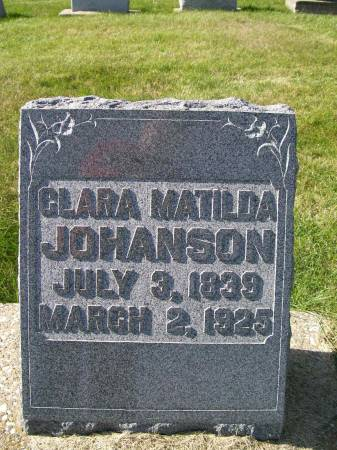 JOHANSON, CLARA MATILDA - Des Moines County, Iowa   CLARA MATILDA JOHANSON