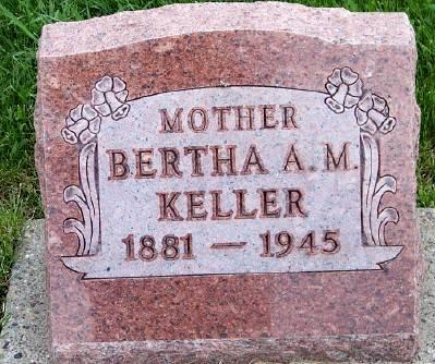 KELLER, BERTHA A. M. - Des Moines County, Iowa   BERTHA A. M. KELLER