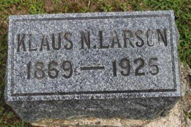 LARSON, KLAUS N. - Des Moines County, Iowa   KLAUS N. LARSON
