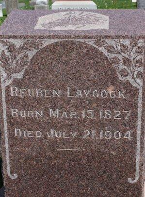 LAYCOCK, REUBEN - Des Moines County, Iowa   REUBEN LAYCOCK
