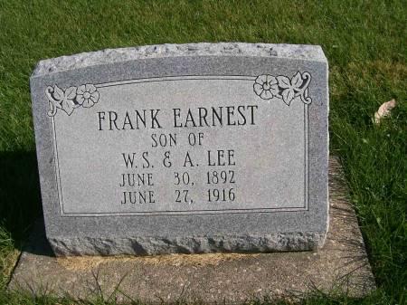 LEE, FRANK EARNEST - Des Moines County, Iowa   FRANK EARNEST LEE