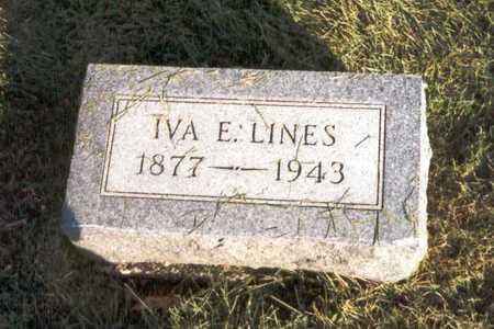 LINES, IVA E. - Des Moines County, Iowa | IVA E. LINES