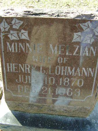 MELZIAN LOHMANN, MINNIE - Des Moines County, Iowa | MINNIE MELZIAN LOHMANN