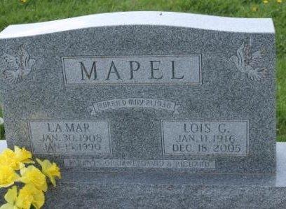MAPEL, LOIS GRETCHEN - Des Moines County, Iowa | LOIS GRETCHEN MAPEL
