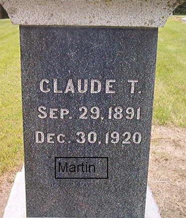 MARTIN, CLAUDE T. - Des Moines County, Iowa | CLAUDE T. MARTIN