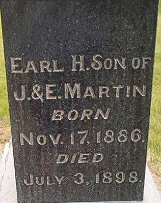 MARTIN, EARL H. - Des Moines County, Iowa   EARL H. MARTIN