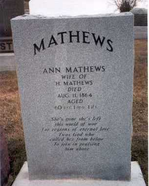MATHEWS, ANN - Des Moines County, Iowa | ANN MATHEWS