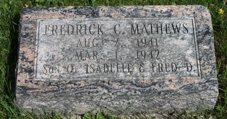 MATHEWS, FREDRICK CURTIS - Des Moines County, Iowa | FREDRICK CURTIS MATHEWS