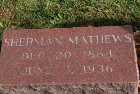 MATHEWS, HENRY SHERMAN - Des Moines County, Iowa | HENRY SHERMAN MATHEWS