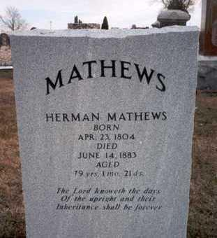 MATHEWS, HERMAN - Des Moines County, Iowa | HERMAN MATHEWS