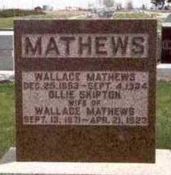 MATHEWS, OLLIE - Des Moines County, Iowa | OLLIE MATHEWS