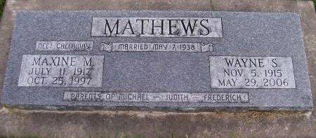 MATHEWS, WAYNE STEVENSON - Des Moines County, Iowa | WAYNE STEVENSON MATHEWS