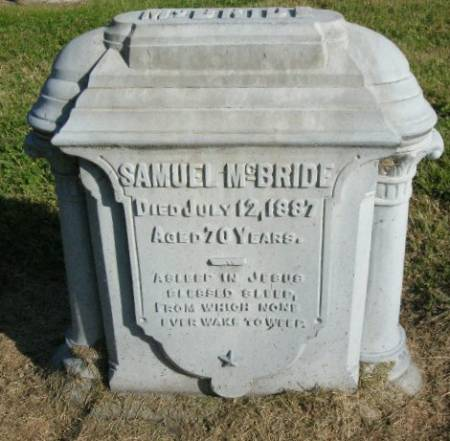 MCBRIDE, SAMUEL - Des Moines County, Iowa   SAMUEL MCBRIDE