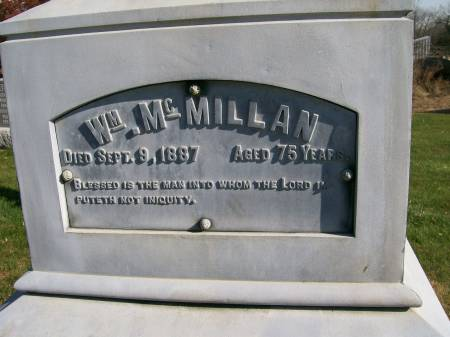 MCMILLAN, WM. - Des Moines County, Iowa   WM. MCMILLAN