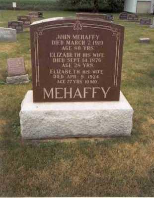WINSLOW MEHAFFY, ELIZABETH(LIZZIE) - Des Moines County, Iowa | ELIZABETH(LIZZIE) WINSLOW MEHAFFY