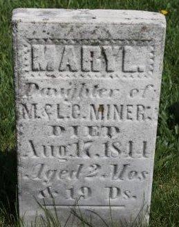 MINER, MARY LOUISA - Des Moines County, Iowa   MARY LOUISA MINER