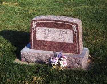 BUTCHER PATTERSON, MARTHA - Des Moines County, Iowa | MARTHA BUTCHER PATTERSON