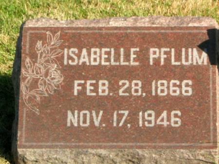 PFLUM, ISABELLE - Des Moines County, Iowa   ISABELLE PFLUM