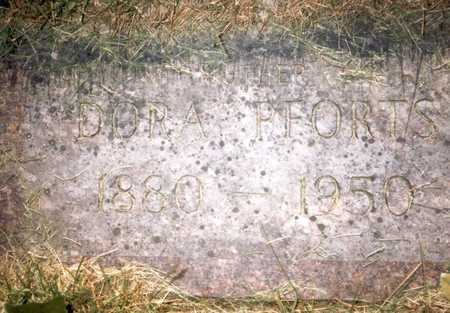 BROCKWAY PFORTS, DORA E. - Des Moines County, Iowa   DORA E. BROCKWAY PFORTS