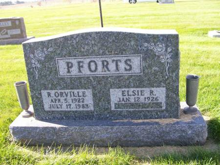 PFORTS, RAYMOND ORVILLE - Des Moines County, Iowa | RAYMOND ORVILLE PFORTS