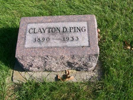 PING, CLAYTON DILLON - Des Moines County, Iowa   CLAYTON DILLON PING