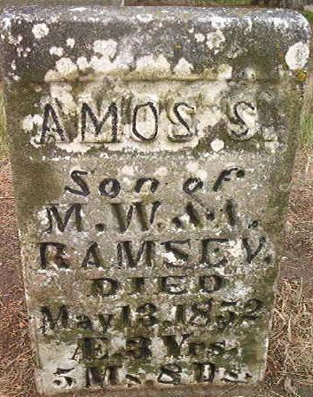 RAMSEY, AMOS S. - Des Moines County, Iowa   AMOS S. RAMSEY