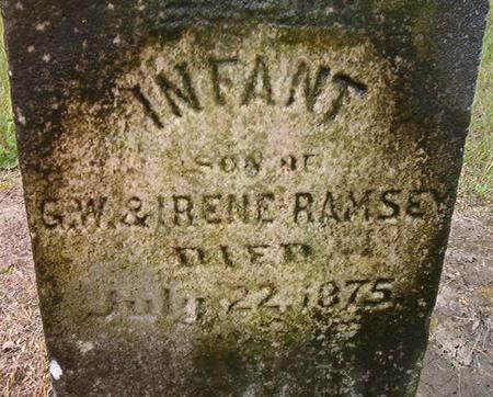 RAMSEY, INFANT SON - Des Moines County, Iowa | INFANT SON RAMSEY