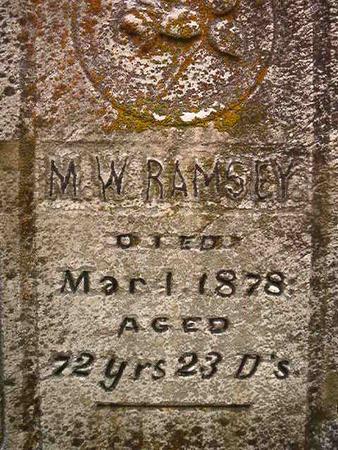 RAMSEY, M. W. - Des Moines County, Iowa   M. W. RAMSEY