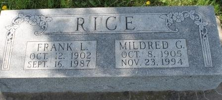 RICE, MILDRED G. - Des Moines County, Iowa   MILDRED G. RICE
