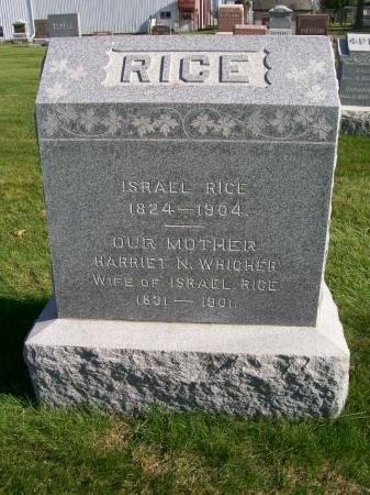 RICE, HARRIET - Des Moines County, Iowa   HARRIET RICE