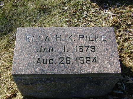 HOELZEN KAHLE, ELLA - Des Moines County, Iowa | ELLA HOELZEN KAHLE
