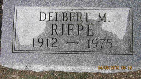 RIEPE, DELBERT MARTIN. - Des Moines County, Iowa   DELBERT MARTIN. RIEPE