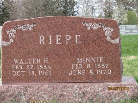 RIEPE, WALTER H. - Des Moines County, Iowa   WALTER H. RIEPE