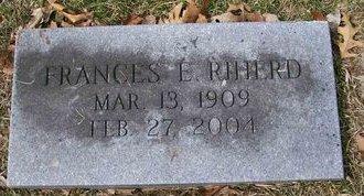 MAYER RIHERD, FRANCES E. - Des Moines County, Iowa   FRANCES E. MAYER RIHERD