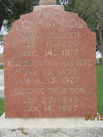 RINKER, JOHN - Des Moines County, Iowa | JOHN RINKER