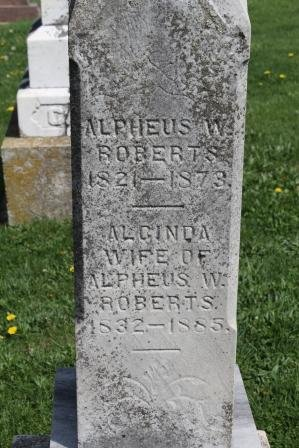 STRAWN ROBERTS, ALCINDA - Des Moines County, Iowa | ALCINDA STRAWN ROBERTS