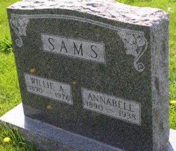 SAMS, WILLIE A - Des Moines County, Iowa | WILLIE A SAMS